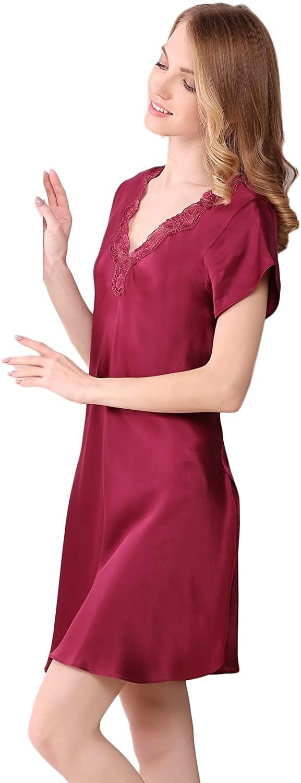 CLC Women's Mulberry Silk Nightgown Pajamas Loose Design