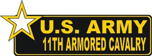 PotteLove Magnet United States Army 11th Armored Cavalry Magnetic Decal 6