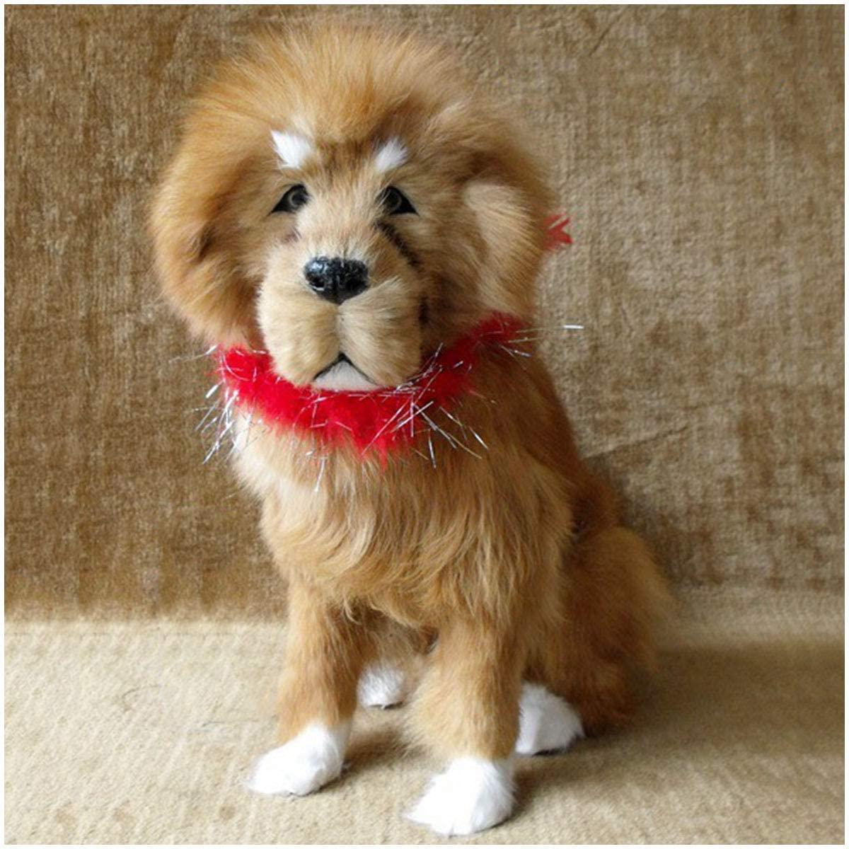LXX Simulation Tibetan Mastiff Model - Simulated Animal Model Lifelike Dog Comfortable Handcraft - Tibetan Mastiff Figurine Toy - for Home Decoration Wedding Kids Birthday Gift