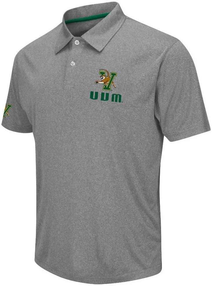 Mens NCAA Vermont Catamounts Polo Shirt (Heather Charcoal)