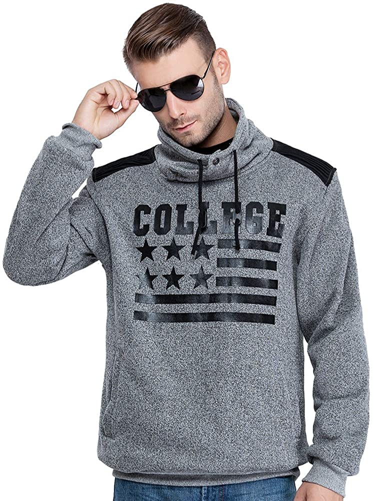 CITY CLASS Autumn Winter Men's Sweatshirts Sports Pullover Brand Hoodie for Male Outerwear High Collar 2660