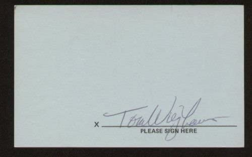 Tom Wieghaus signed autograph 3x5 index card F3174
