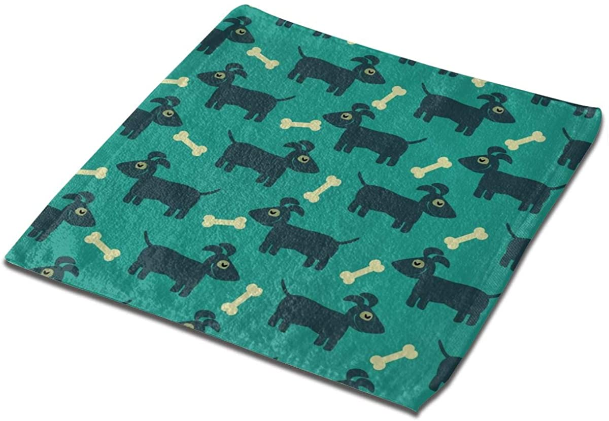 Dog And Bone Square Washcloths Face Wash Cloth Fingertip Towel Rags Soft Merch Gift and Absorbent 13 x 13 inches