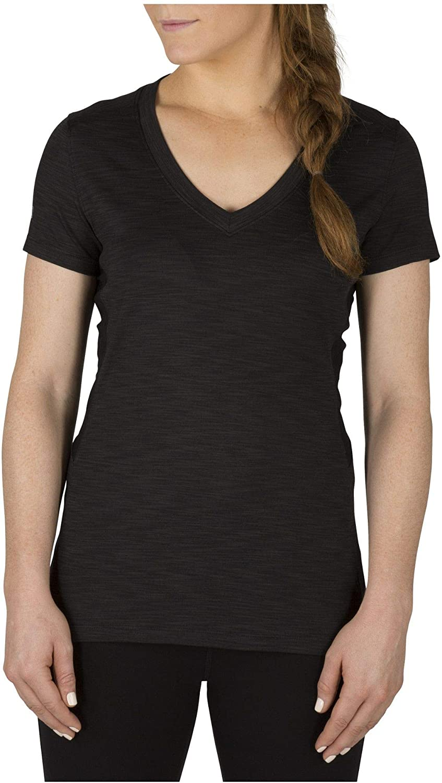 5.11 Tactical Womens Zig Zag V-Neck Short Sleeve Shirt, Anti-Microbial Technology, Style 61306