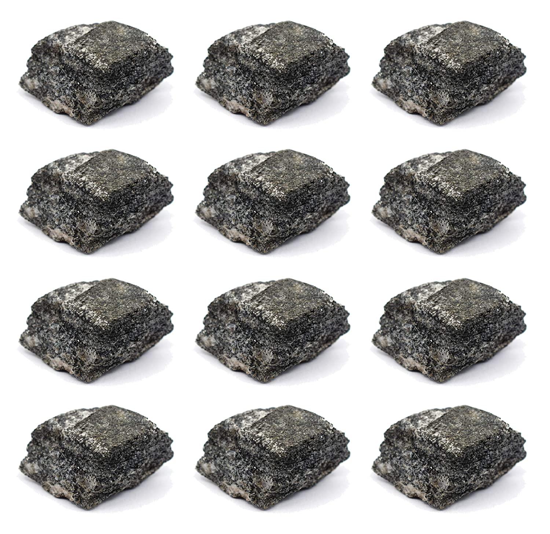 12PK Raw Biotite Gneiss, Metamorphic Rock Specimens - Approx. 1