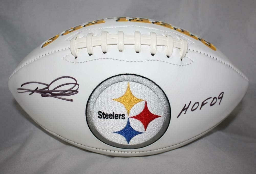 Rod Woodson Signed Ball - Logo W HOF W Auth - JSA Certified - Autographed Footballs