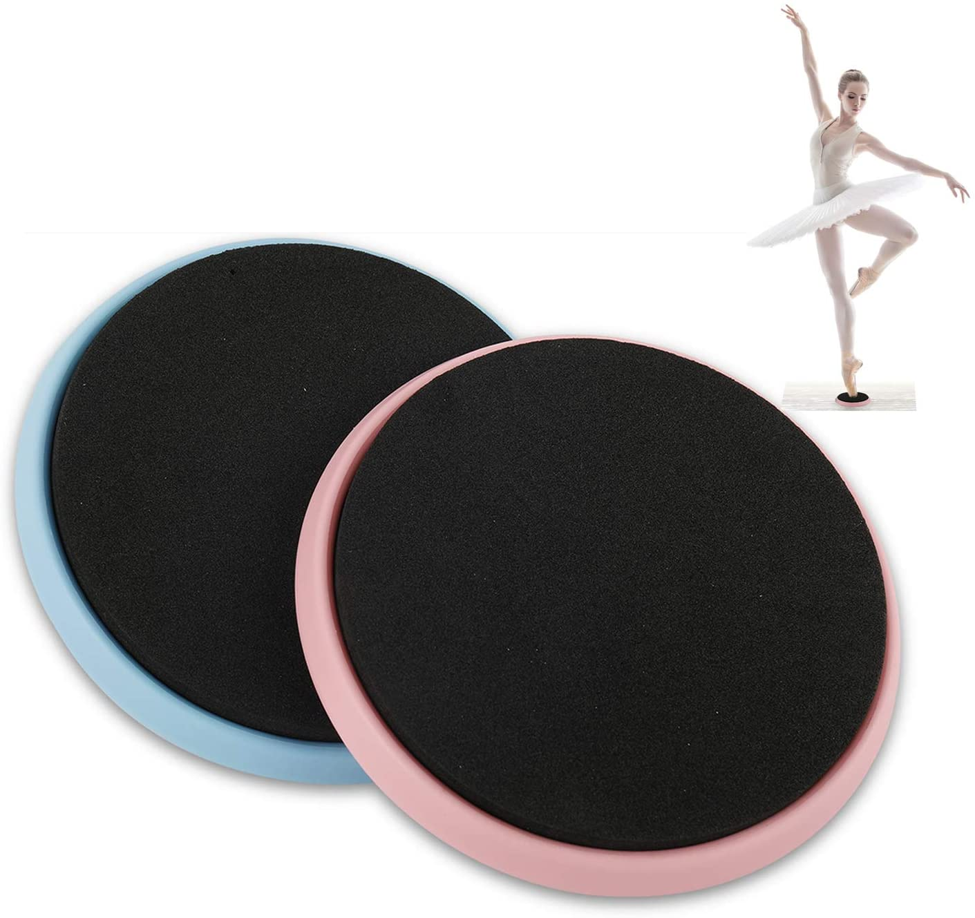 Yaesport Ballet Turning Board for Dancers, ice Skater and Gymnastics - Improve Balance, Pirouettes Spinning and Stability, Portable Ballet Turning Disc, 2 Pack
