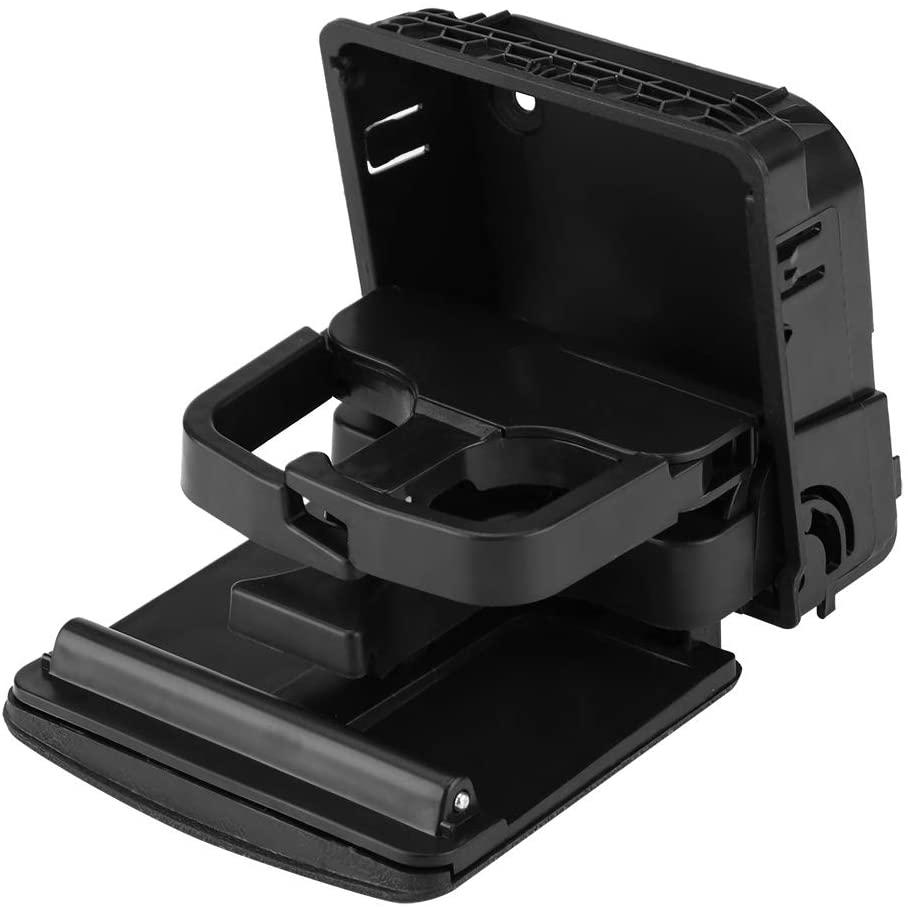 Armrest Cup Holder, Black Rear Armrest Folding Central Console Cup Holder for VW Jetta Golf GTI MK5 MK6 EOS RABBIT 1K0862532