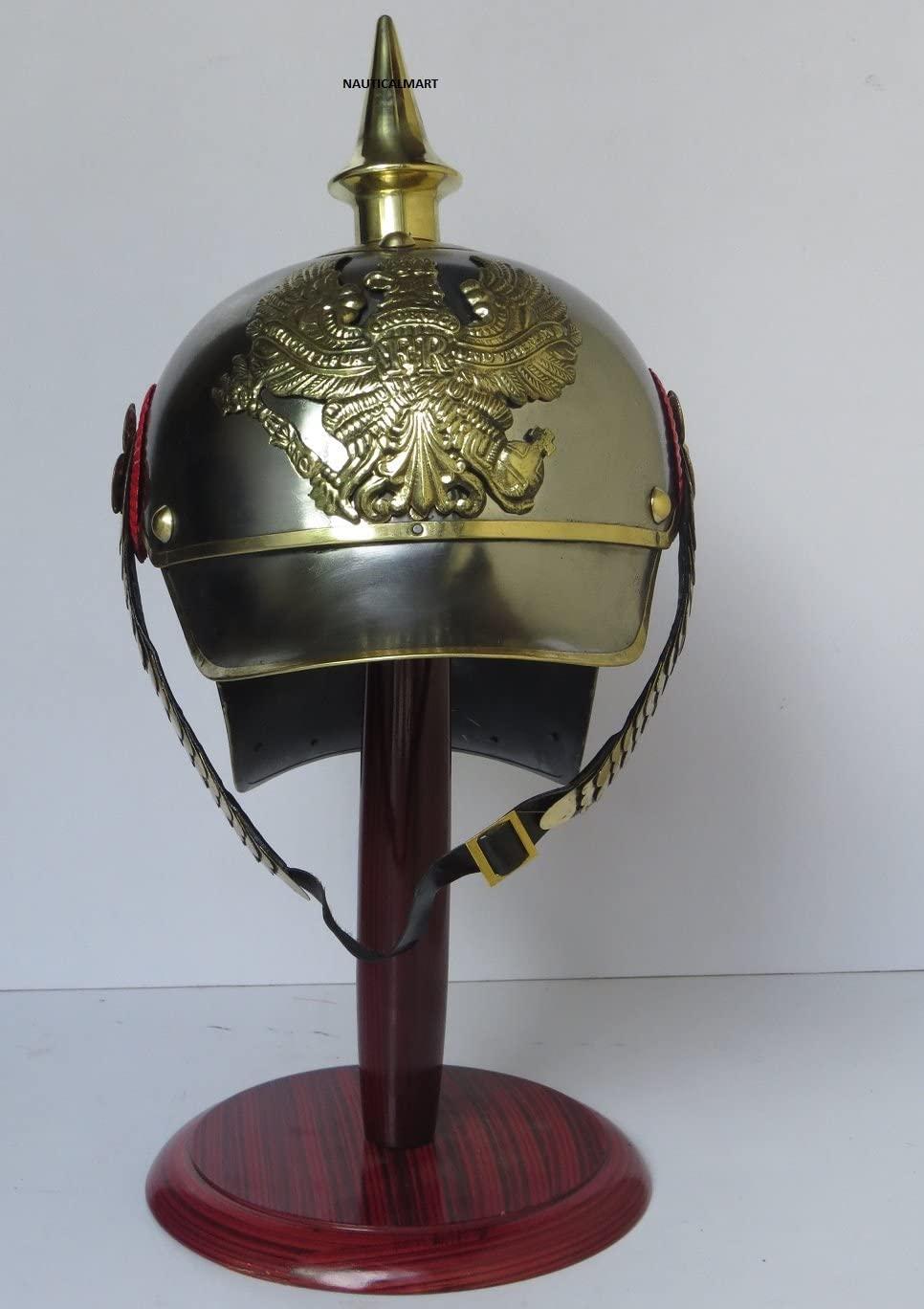 NauticalMart Designer Nautical Handcraft German PICKELHAUBE Helmet Beautiful Prussian Spike Helmet