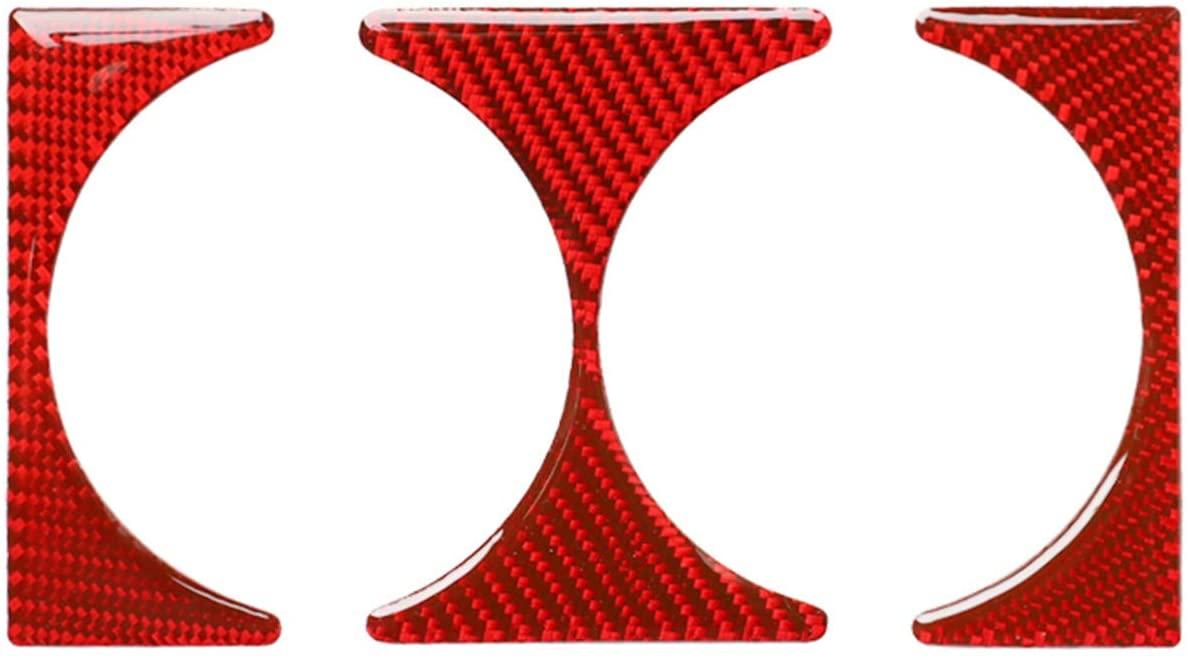 Carbon Fiber Frame Trim Cover Cap Case for BMW 3 Series 4th E46 M3 320i 325i 323i 328i 330i 335i 340i M3 1998-2006 (Water Cup Bottle Holder Frame, Red)