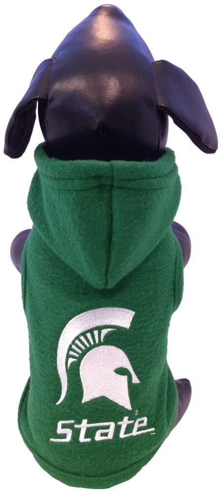 NCAA Michigan State Spartans Polar Fleece Hooded Dog Jacket, X-Small