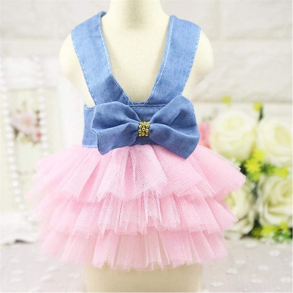 GIOGIO Pet Dog Dress Clothes Sweet Princess Dress Teddy Puppy Wedding Dresses Skirt for Small Medium Dog Pet Supplies