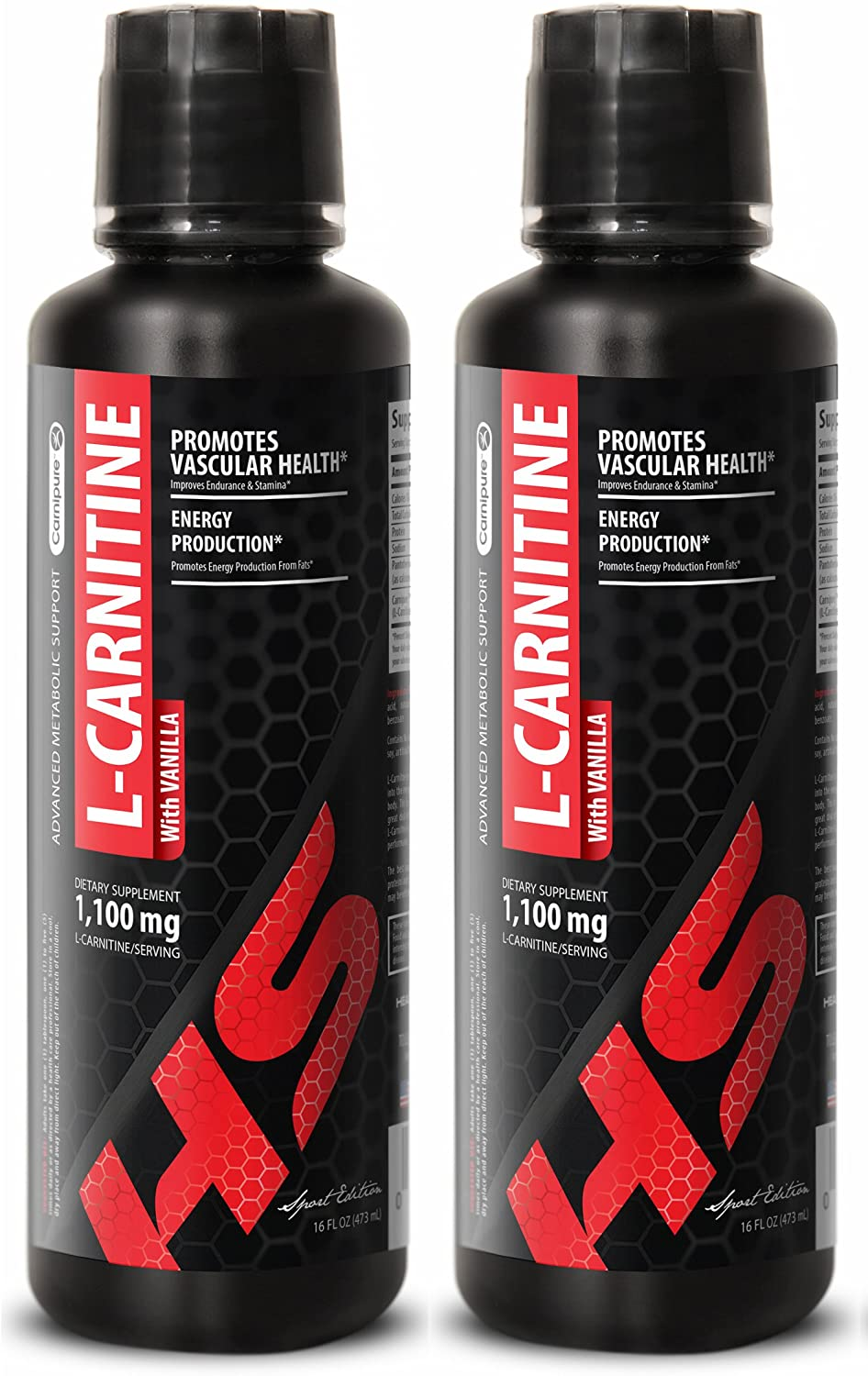 Testosterone Booster Supplement - L-Carnitine 1,100MG - l carnitine l Tartrate - 2 Bottles (32 FL OZ)