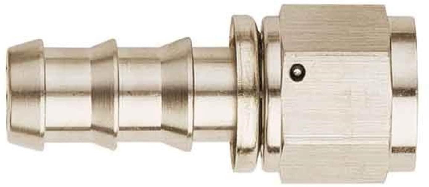 Aeroquip FCE1513 Socketless Aluminum Fitting, Straight, Nickel-Plated, -08 Hose Size, S.A.E. 37 Degree