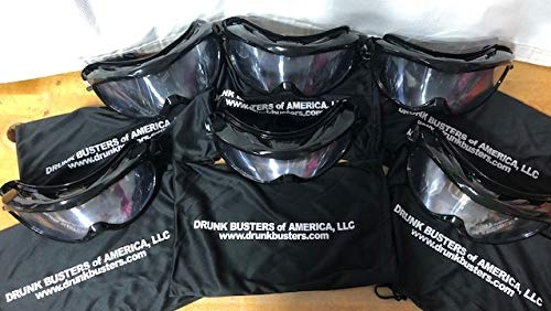 Drunk Busters 6 Pack of Impairment Goggles - Simulating .08-.15 BAC (All 6 Goggles are All The Same Kind). 5 Year Warranty! Most Realistic, Affordable & Durable Goggles on The Market!