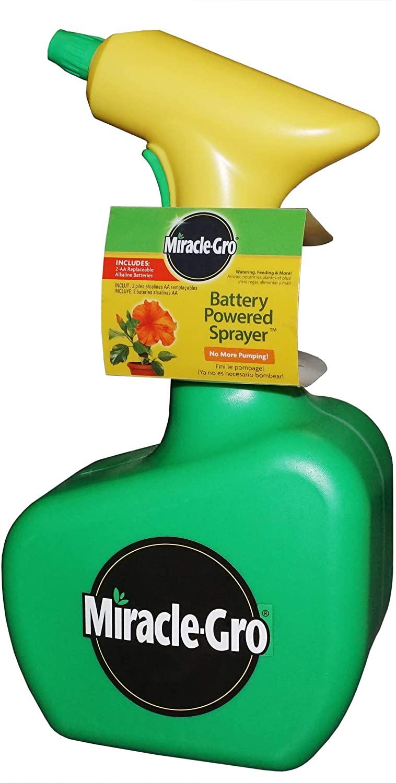 Miracle-Gro 190518 Battery Powered 48 oz. Handheld Sprayer, Green