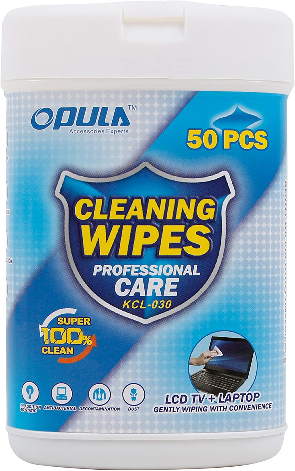 DURAGADGET 50 Anti-Static LCD Cleaning Cloths/Wipes - Compatible with The Deeplee DP90