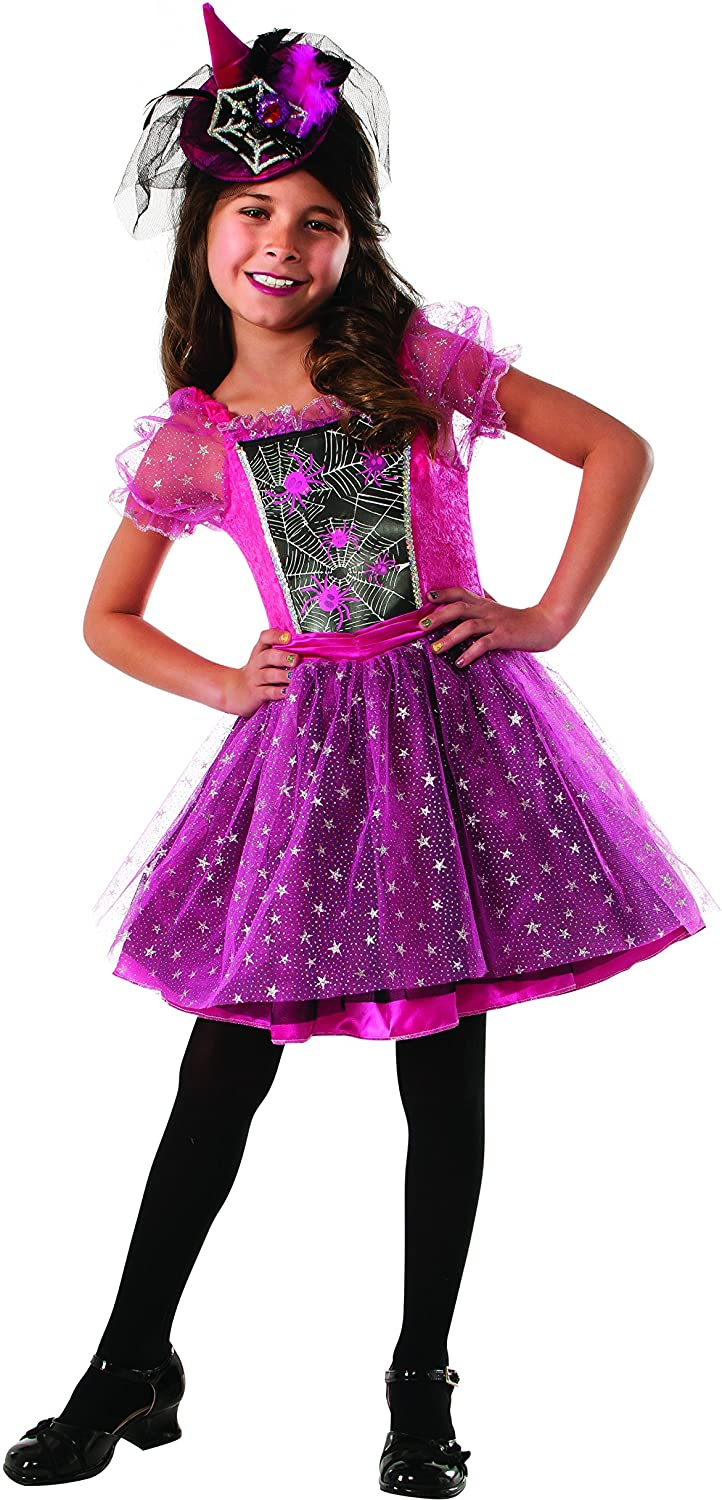 Rubies Pink Light-up Spider Witch Costume, Large