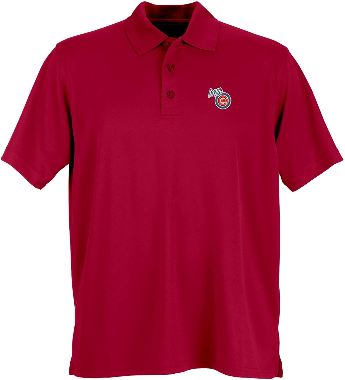 Vantage Apparel Minor League Baseball Iowa Cubs Mens Performance Mesh Polo Shirt, 4X-Large, Sport Red