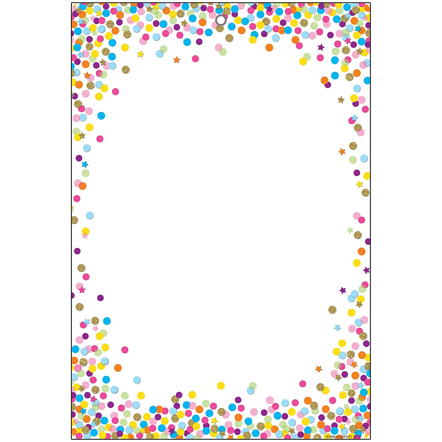 Ashley Productions ASH91046 Smart Poly Chart, Confetti Blank, Polypropylene (PP)/Steel, 13 x 19
