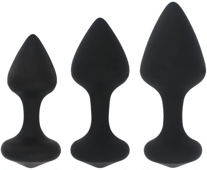 BigBanana Anal Sex Beginners Set Anal Butt Plugs Anal Plug Kit Anal Trainer Toys(Three-piece Suit)