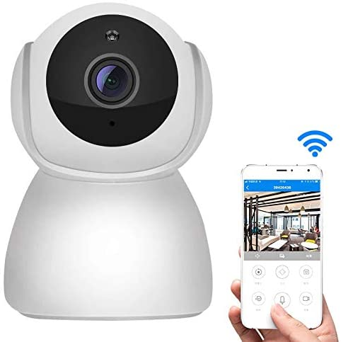 WiFi IP Camera Home Security Camera, V380 1080P Wireless Camera HD Night Vision Smart WiFi Mobile Phone Remote Housekeeping Shop Monitor