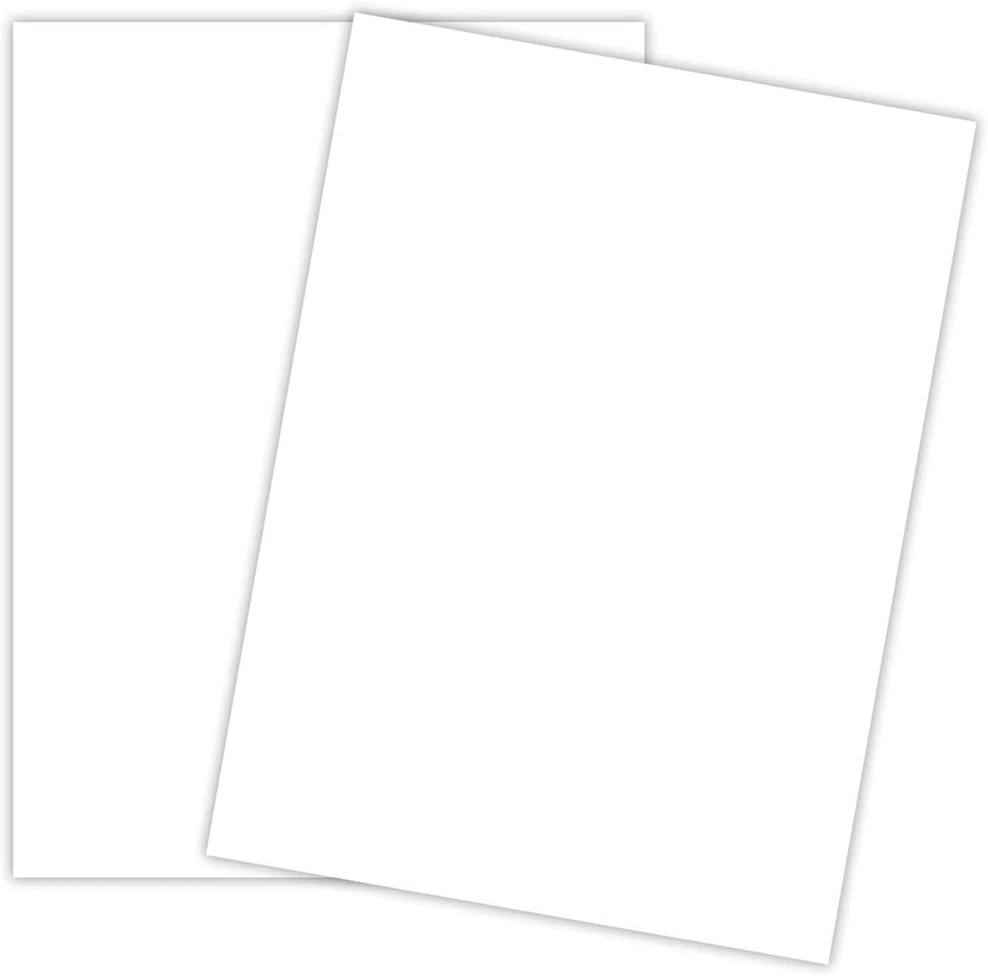 White Cardstock - Thick Paper for School, Arts and Crafts, Invitations, Stationary Printing | 65 lb Card Stock | 8.5 x 11 inch | Medium Weight Cover Stock (176 gsm) 96 Brightness | 50 Sheets Per Pack