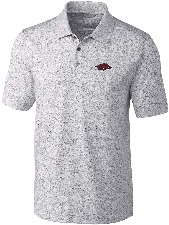Cutter & Buck NCAA Mens Short Sleeve Space Dye Advantage Polo