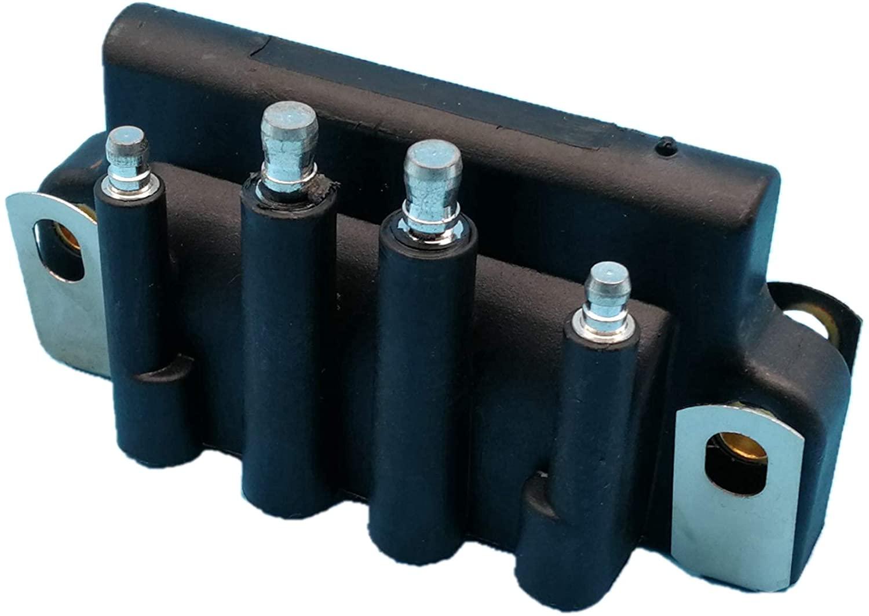 Tuzliufi Replace Ignition Coil Johnson Evinrude outboard 2hp 2.3hp 2.5hp 3hp 3.3hp 4hp 6hp 8hp 9.9hp 15hp 28hp 40hp 45hp 50hp 55hp 80hp 90hp 105hp 115hp 150hp 175hp Dual Plug Wire 2 4 6 Cylinder Z370