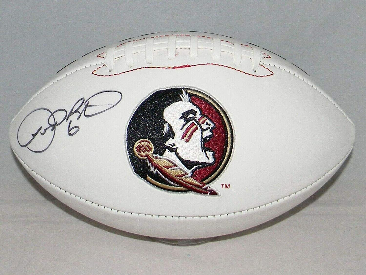 Leroy Butler Autographed Signed Florida State Seminoles White Logo Football Coa - Autographed College Footballs