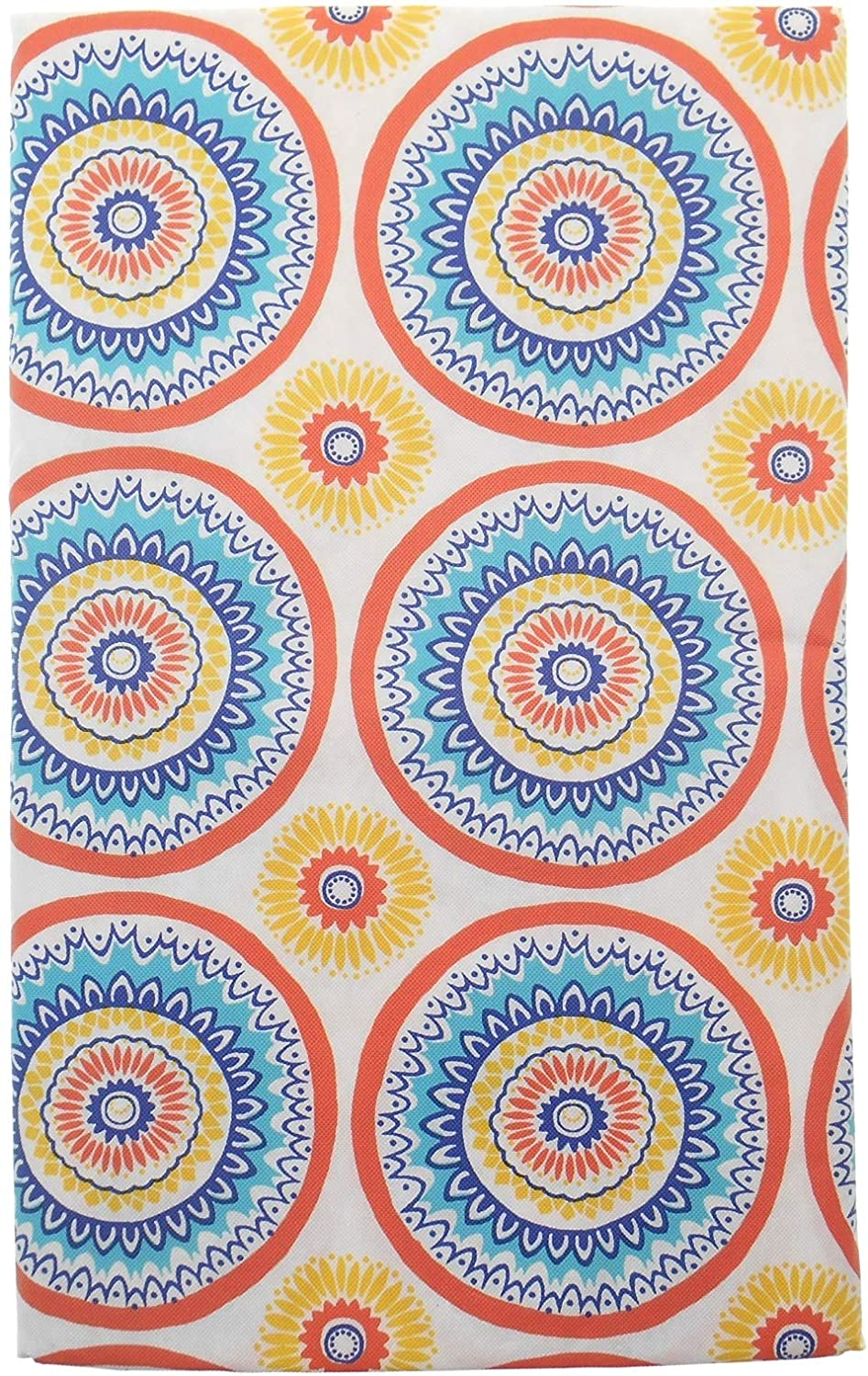 Mainstream Circle Stich Vinyl Flannel Back Tablecloth on White Background (52