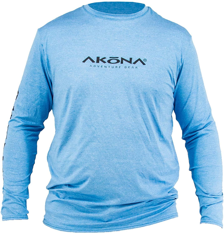 AKONA Men's Long Sleeve Rash Guard, Sun Shirt SPF50+, and Watersports Top