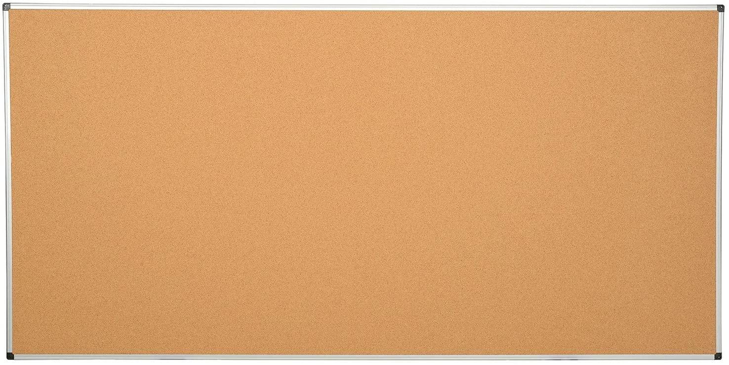 Large Cork Bulletin Board w/Aluminum Frame - 96 x 48