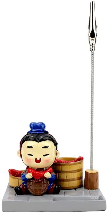 Terracotta Army Cute Base Card Paper Photo Clips Stands Card Holders for Desk Home Decoration