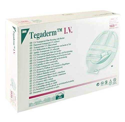 3M Health Care 1635 Tegaderm Dressing, Transparent (Pack of 200)