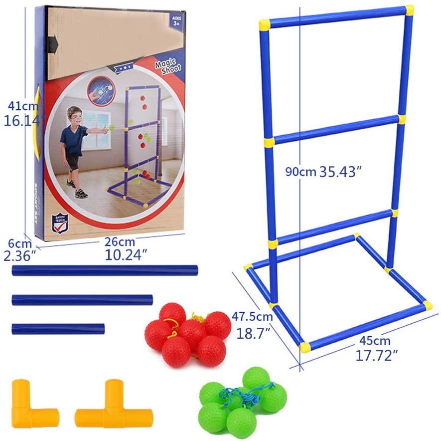 minansostey Durable Golf Ladder Rack Kids Throwing Game Toss Sport Frame Portable Backyard Outdoor Toy