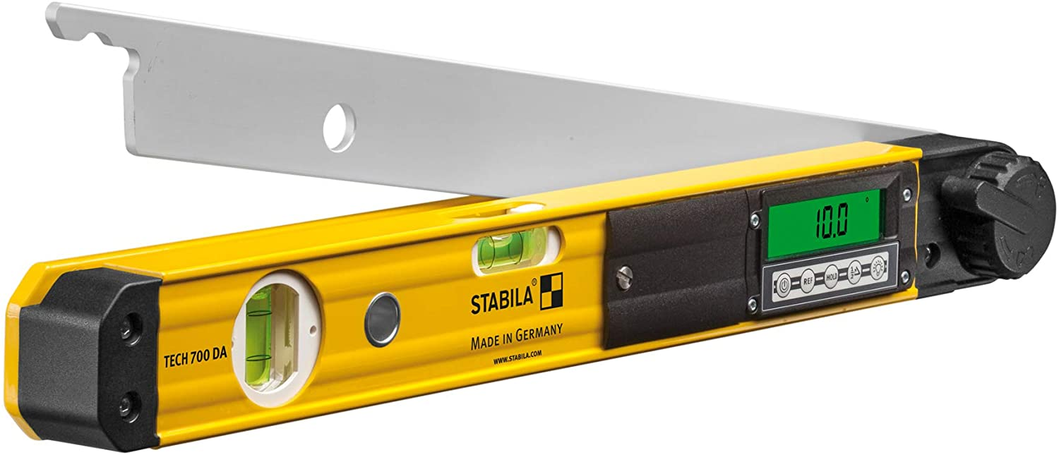 Stabila 39018 TECH 700 DA 18 Inch Digital Electronic Angle Finder, Spirit Level and Bevel Gauge
