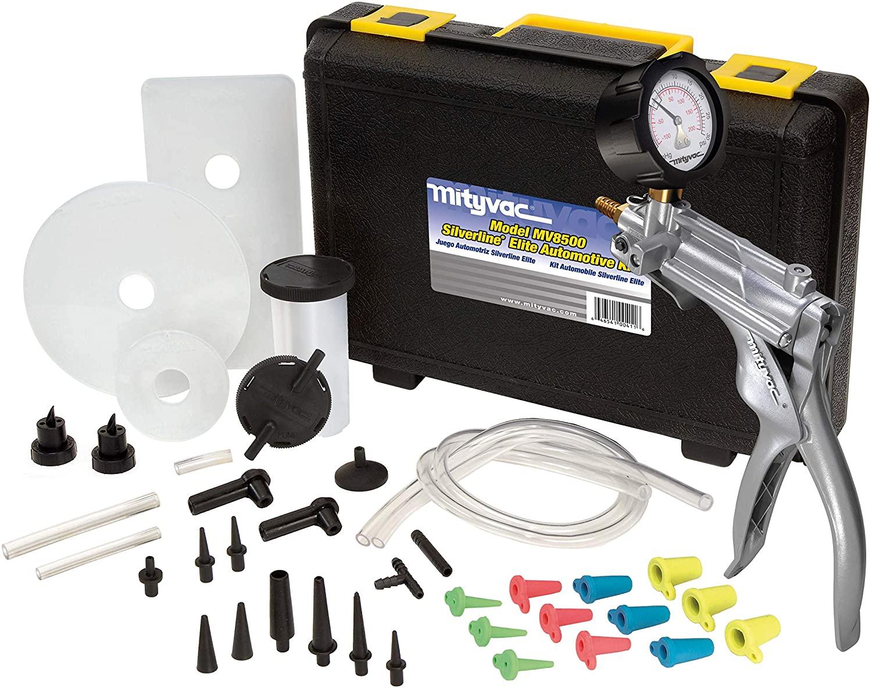 Mityvac MV8500 Silverline Elite Automotive Test Kit Provides both Vacuum and Pressure to Perform Engine Performance Diagnostics, Brake Bleeding, Fluid Transfer, Evacuation, Windshield Repair Jobs