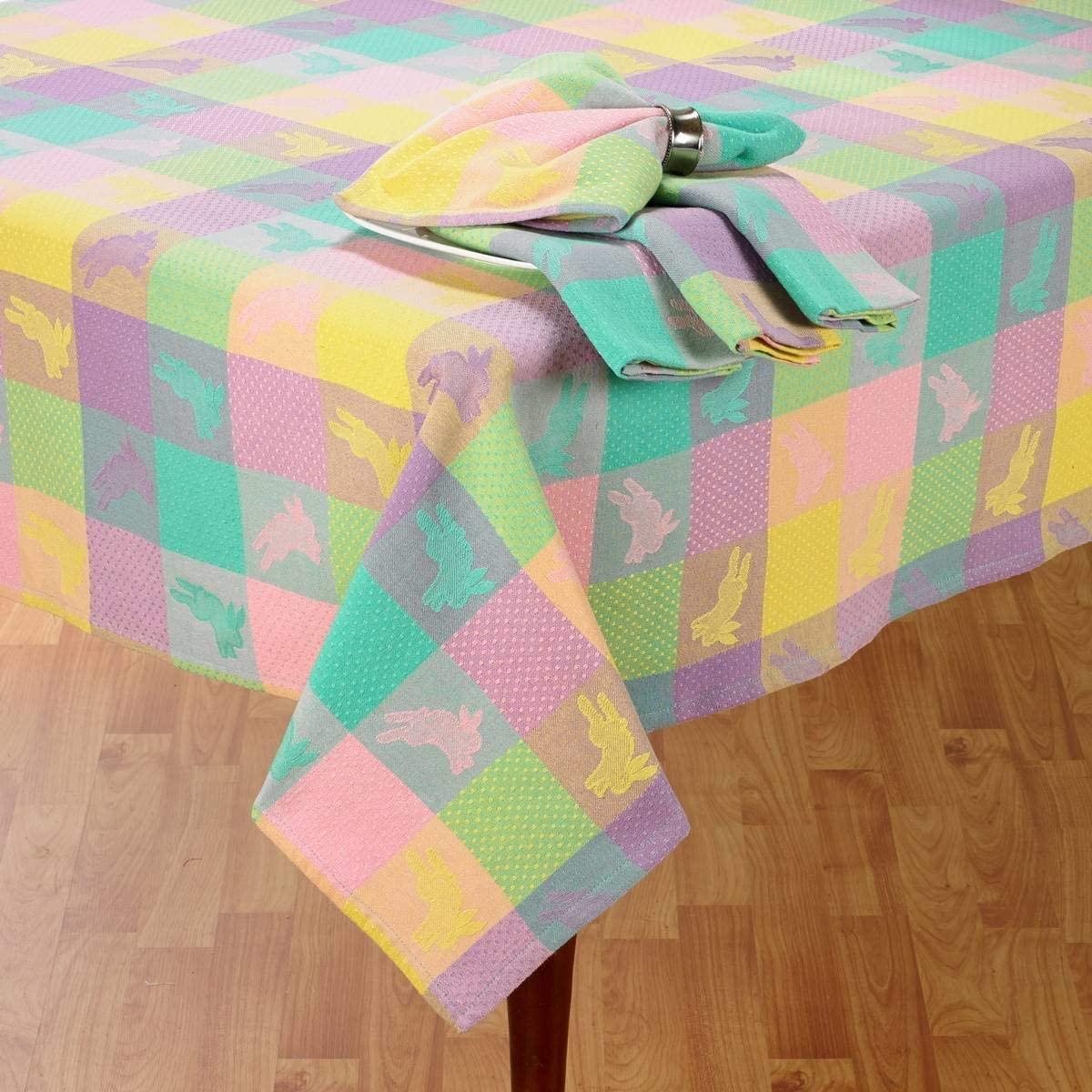 Lintex Linens Hoppy Easter Jacquard Tablecloth (60x84)