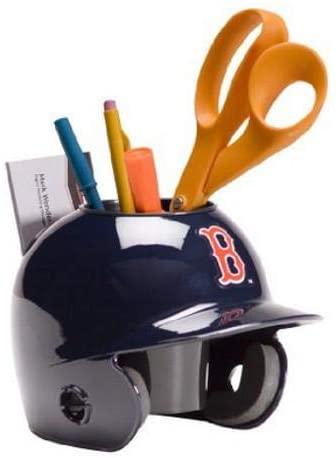 Boston Red Sox MLB Baseball Schutt Mini Batting Helmet Desk Caddy - MLB Mini Helmets