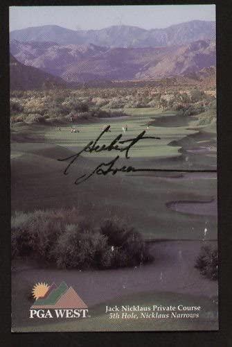Herbert Green signed autograph auto PGA West Scorecard