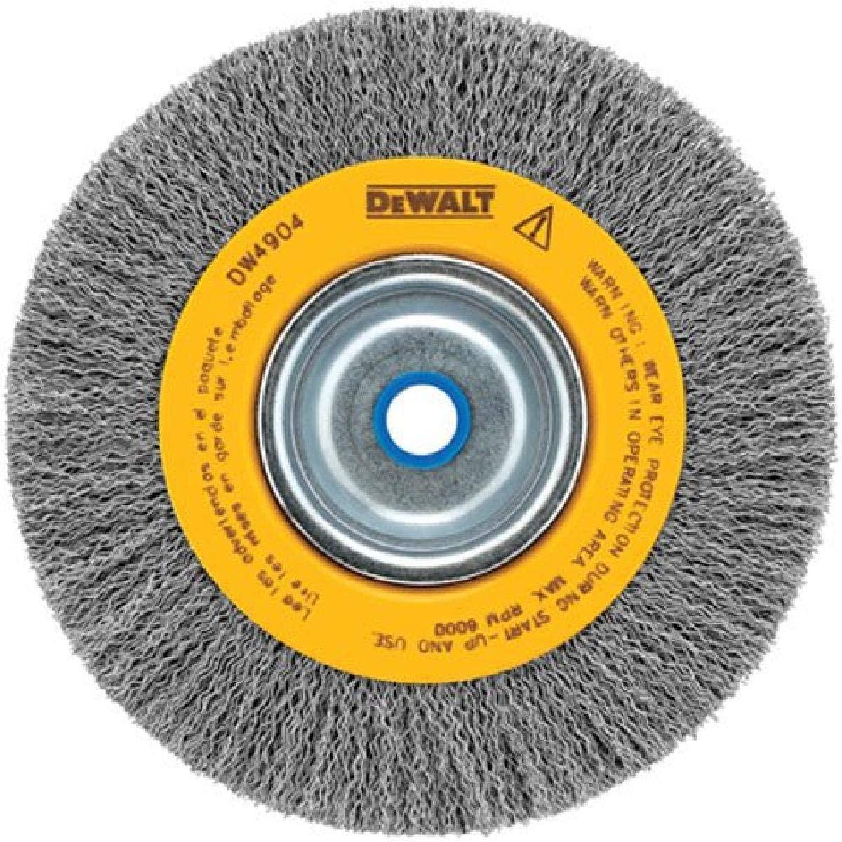 DEWALT Wire Wheel for Bench Grinder, Crimped, 6-Inch (DW4905)