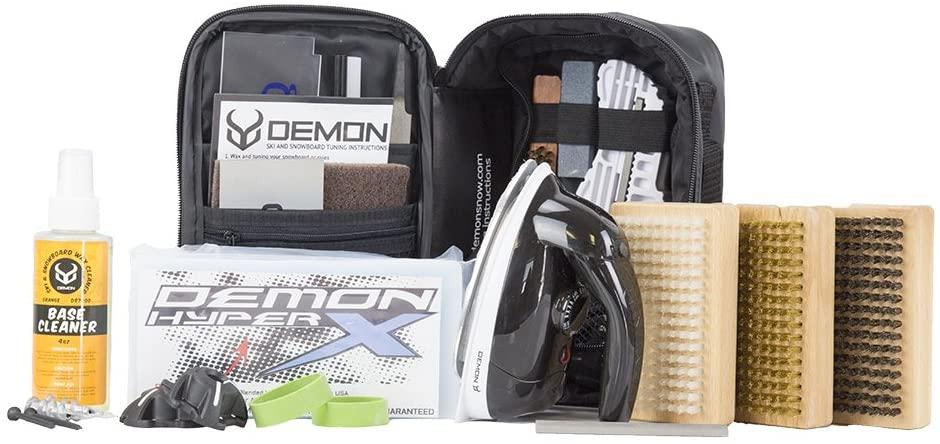 Demon Park Ranger Ski & Snowboard Tuning Kit with Iron, 1lb Wax Block, Base Cleaner & Snowboard Wall Mount Hanger