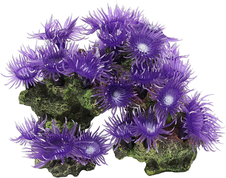 Vitality SH310 Faux Coral Aquarium Decorating Ornament, Purple