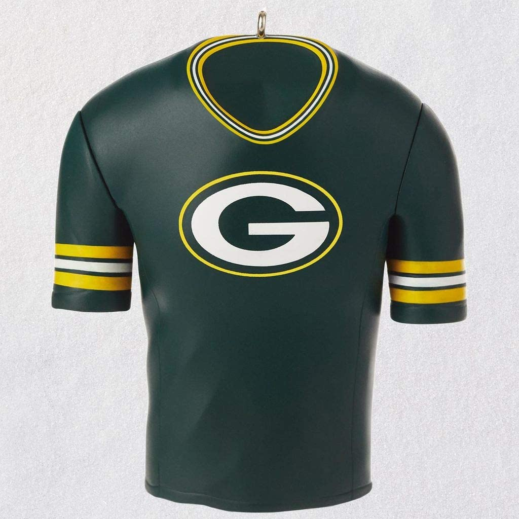 HM K Hallmark Green Bay Packers Jersey Ornament