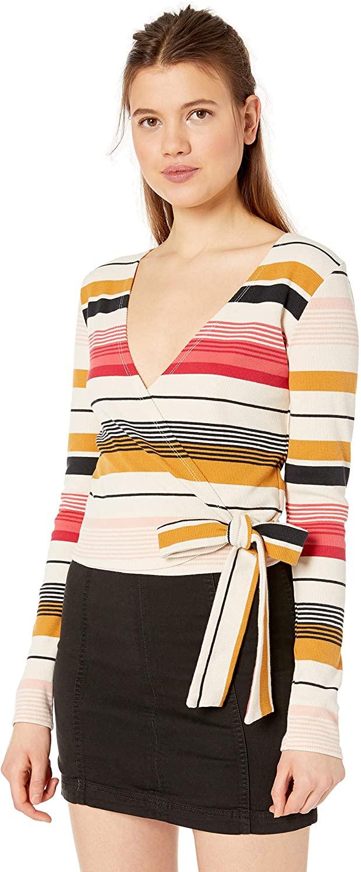 Billabong Women's Wrap City Knit Wrap Top