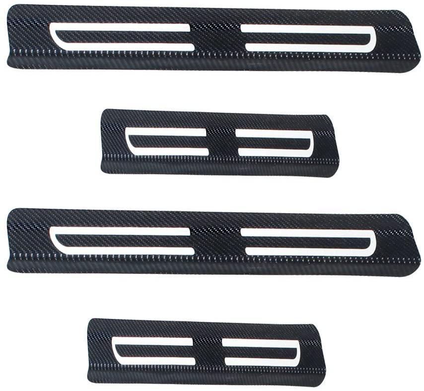 8X-SPEED for Ford Explorer Edge F-150 Vinyl Door Sill Protector White 4pcs
