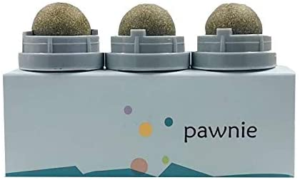PAWNIE Cat Toys Nature Mint Ball Pet Cat Playing Chew Toy Funny Cat Mint Ball Toy