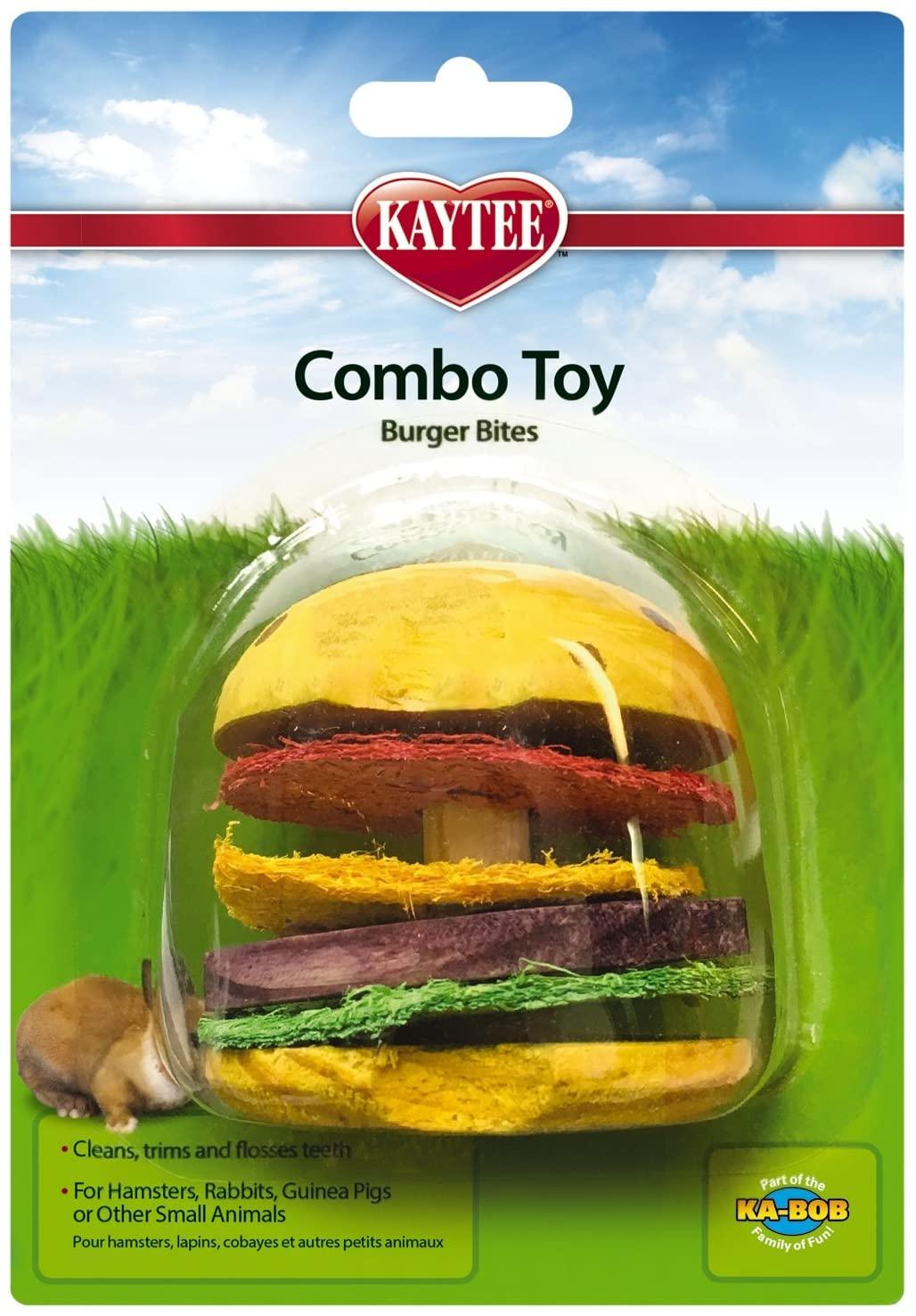 PETS INTERNATIONAL LTD Super Pet Hamburger Small Animal Toy, Wood and Loofah
