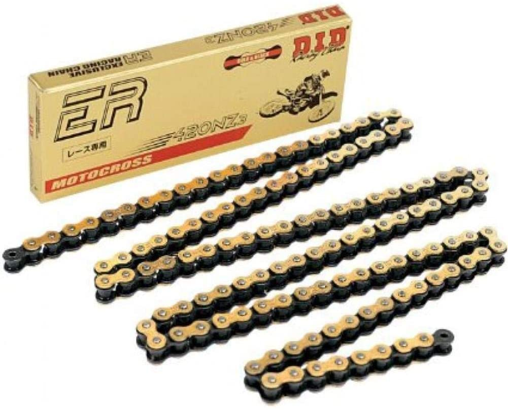 D.I.D 415ERZG-25FT 415 ERZ Super Non O-Ring Chain - 120 Links - Gold